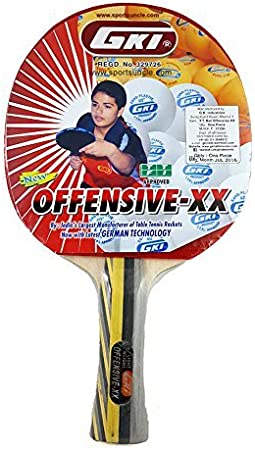 GKI Offensive XX New Computerised Printed Cover Table Tennis Racquet Bat