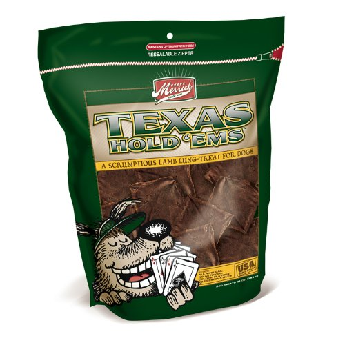51xKLoPZiTL - Merrick Texas Hold em's Lamb Lung Fillets Treats for Dogs, 12-Ounce