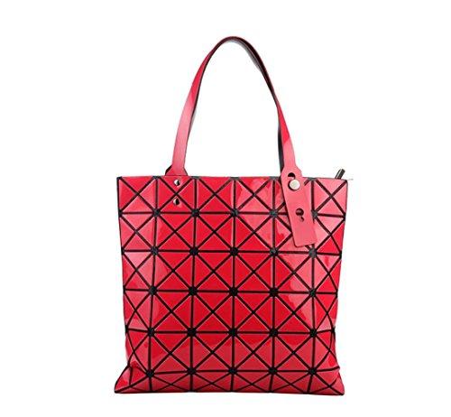 Bolso De Las Señoras Hombro Geométrico Rombal Moda Simple Bolso Plegable Bolso Portátil Red