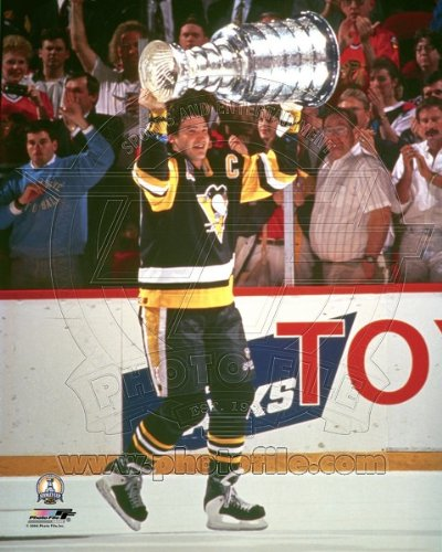 Mario Lemieux Pittsburgh Penguins 1991 Stanley Cup Photo 8x10 #2