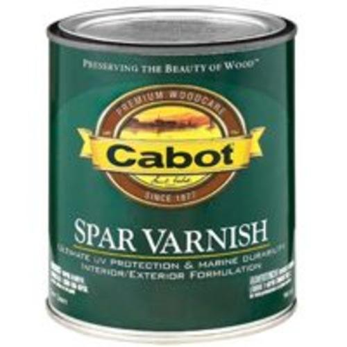 Interior Gloss Varnish (Cabot 144.0018047.005 Interior/Exterior Semi Gloss Spar Varnish - 1-Quart)
