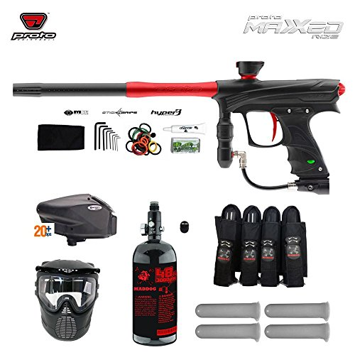 Proto Rize MaXXed Expert Paintball Gun Package - Black / Red