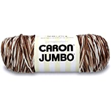 Caron Jumbo Ombre Yarn - Medium Worsted Gauge 4 thickness of the yarn -100% Acrylic-- 12 oz -  Chocolate  -  Machine Wash & Dry