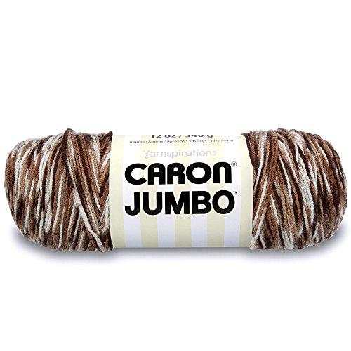 Caron Jumbo Ombre Yarn, 12 oz, Chocolate Variegate, 1 Ball