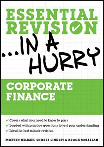 Corporate Finance (Essential Revision in a Hurry): Amazon co