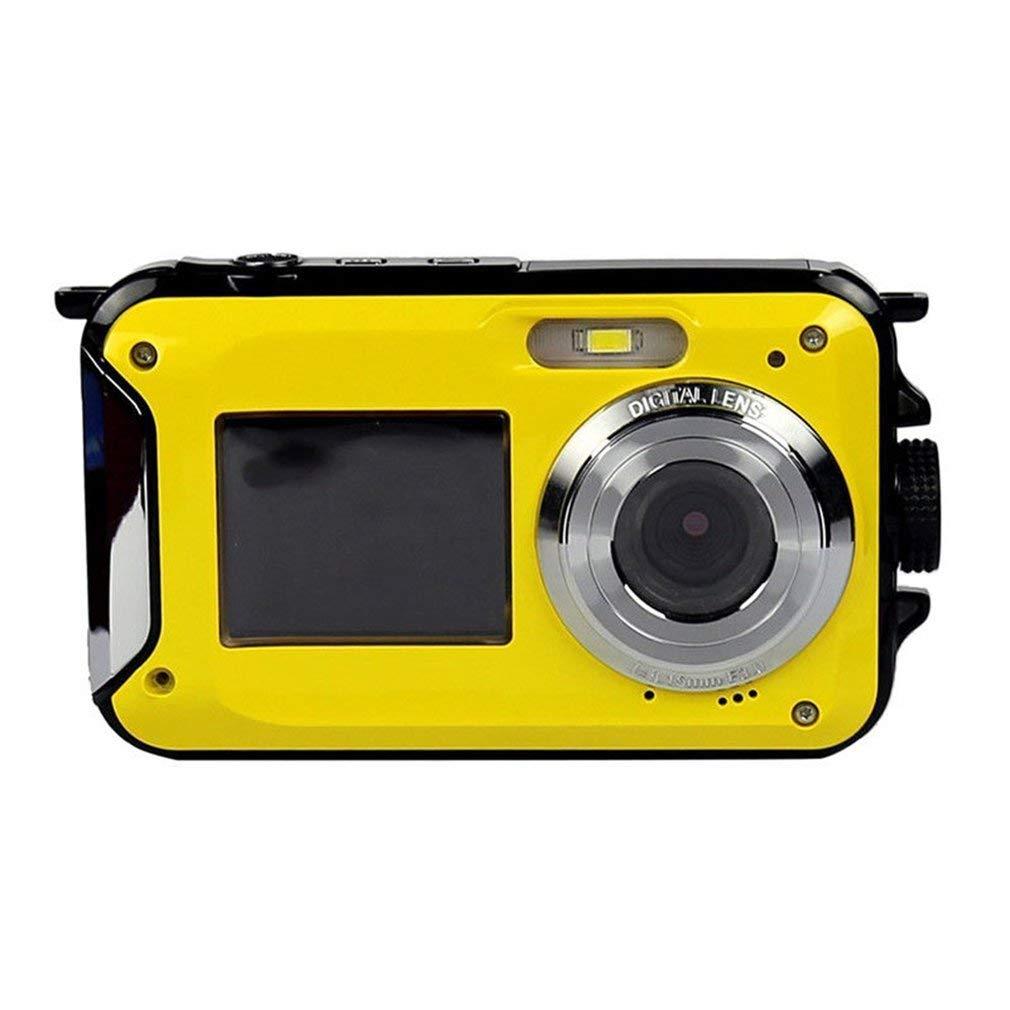 vendita calda online FDBF 2.7inch Digital Camera Waterproof 24MP 1080P Double Screen Screen Screen Under Water Cam giallo  acquisto limitato