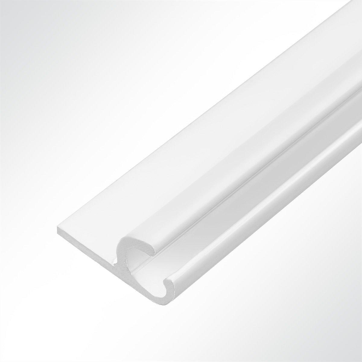 LYSEL Rail de Suspension en Aluminium Blanc 15 x 30 mm
