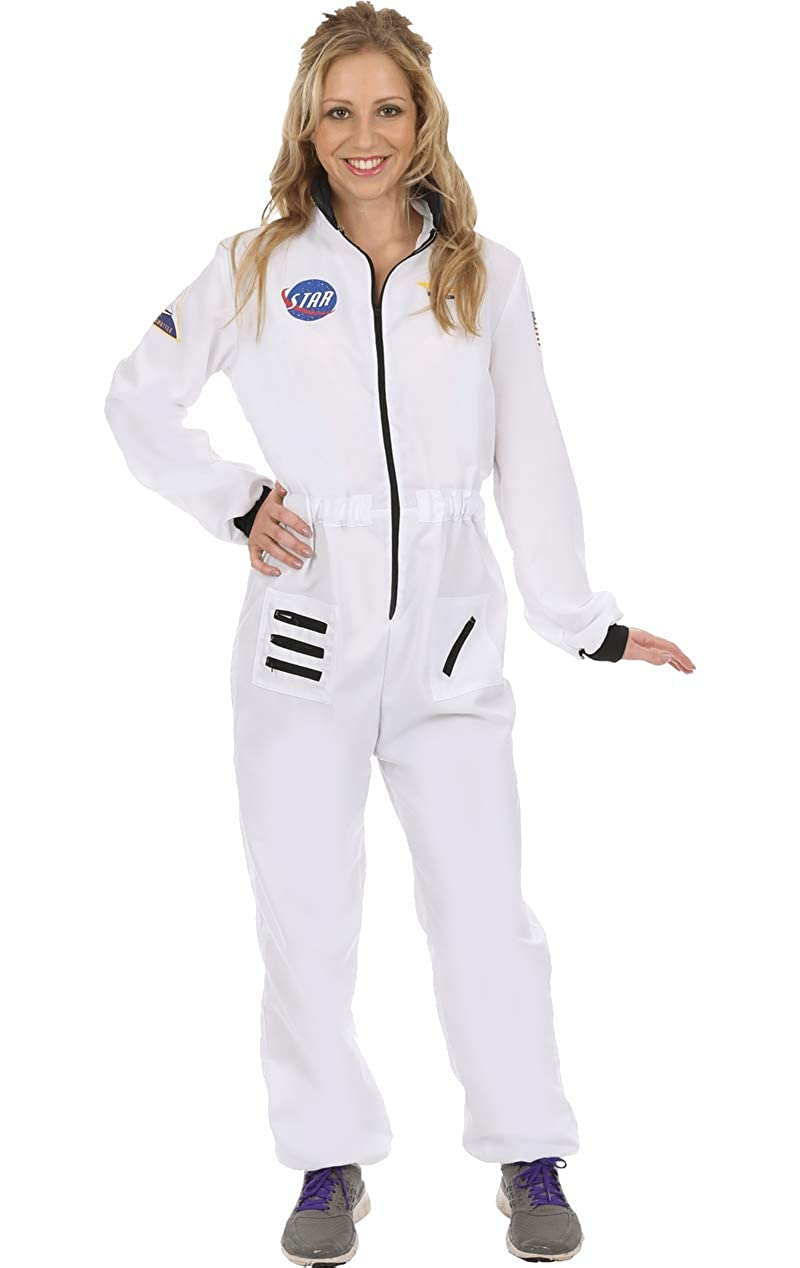 Disfraz de Astronauta Traje Espacial Blanco Uniforme para Mujeres ...