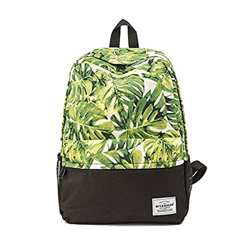 69aab7a8ea Image Unavailable. Image not available for. Color  Miyahouse Fresh Style  Women Backpacks Floral Print Bookbags Canvas Backpack ...