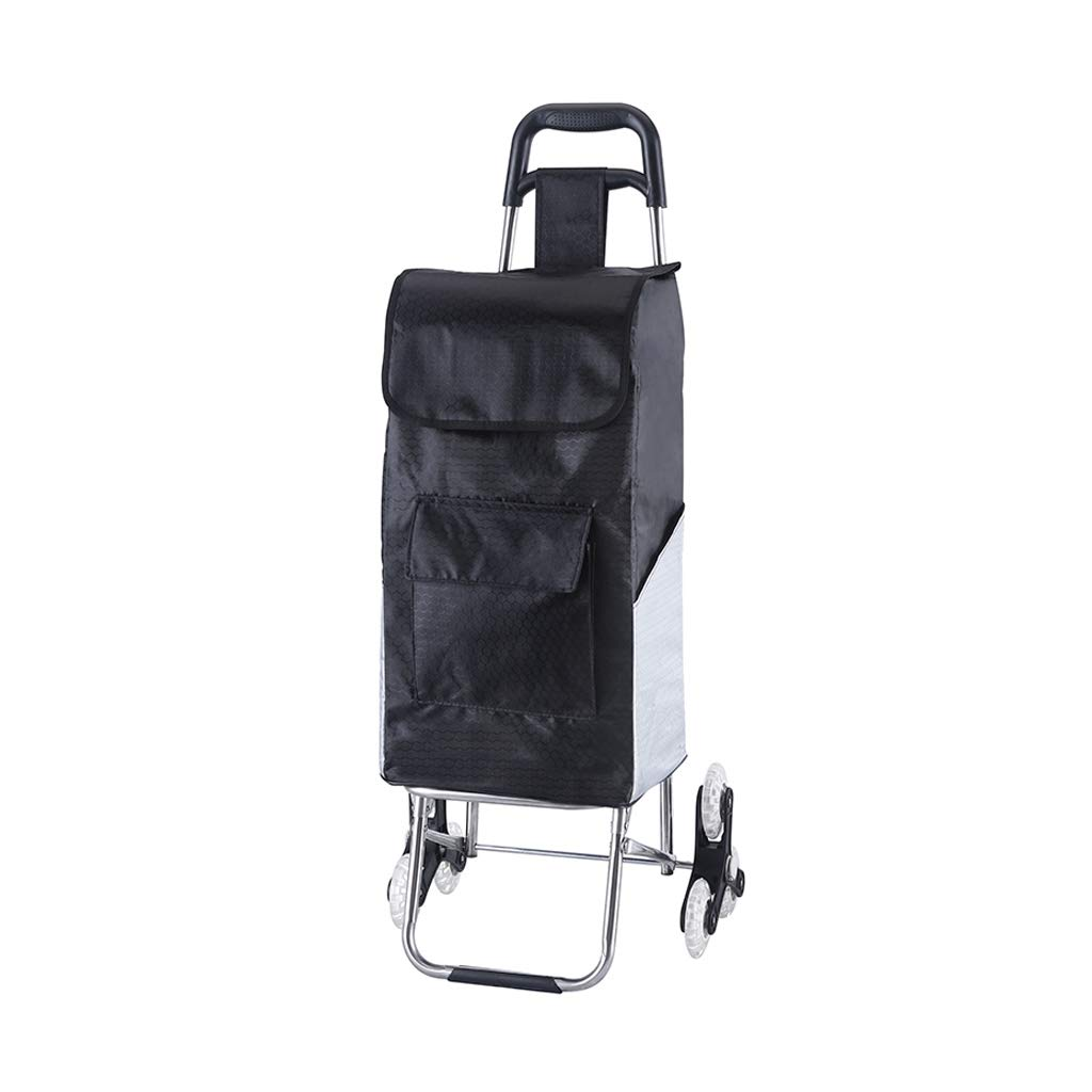 HJYSTC Shopping Cart, Trolley Car Folding Portable Suitcase Small Trailer Elderly Household Pull Goods Shopping Cart Climb Stairs Trolley 3 Color Optional (Color : C)