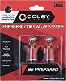 Orange Cycle Parts Emergency Tire Wheel Valve Stem Replacement for Standard Wheel Openings Installs from Outside of Wheel 2-Pack by Colby Valve CV-EV2 (Red)