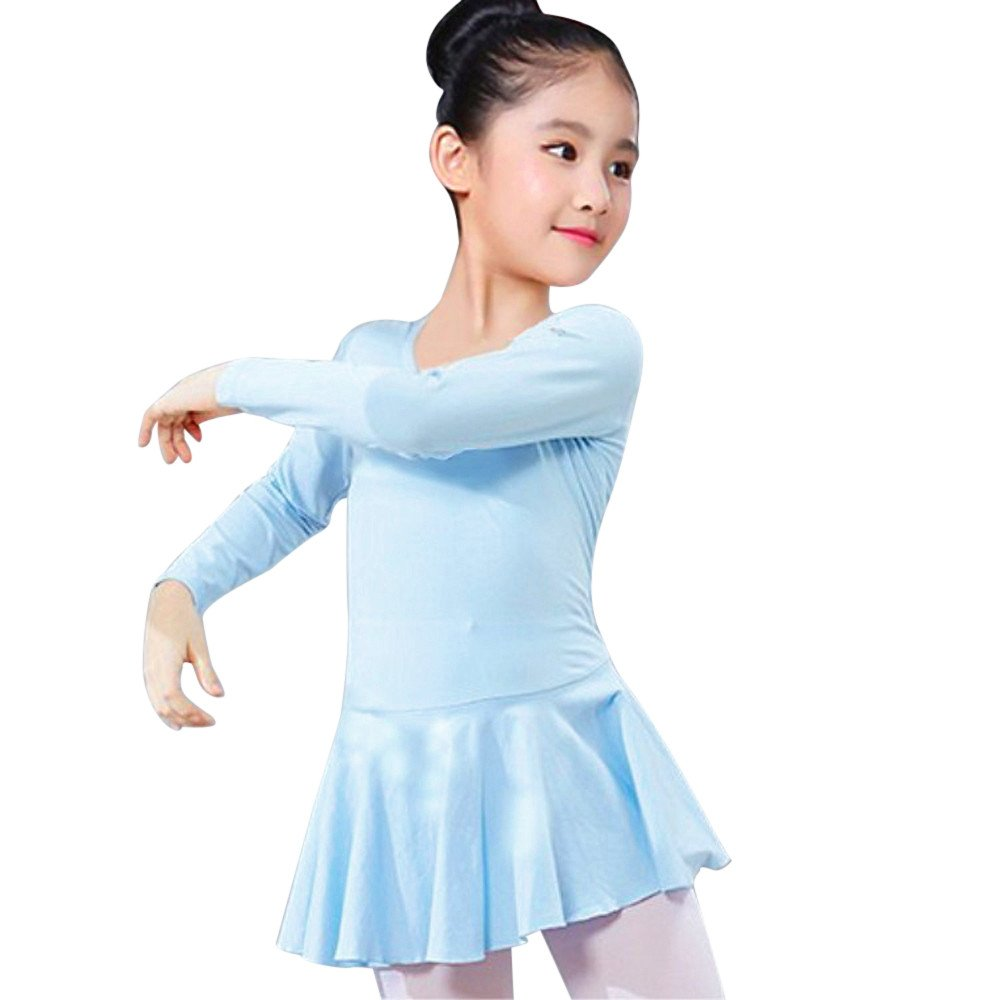 Clearance, Girls One-Piece Gymnastics Leotard Long Sleeve Ballet Tutu Dress Costumes for Teen Girl Yamally Yamally_9R