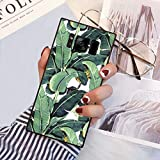 Square Banana Leaves Samsung Galaxy S8 Case, JQLOVE All-Inclusive Full-Body Shockproof Protective Phone Cover, Case for Samsung Galaxy S8 Banana Leaves