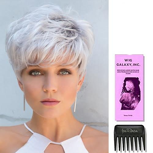 Emerson by Noriko Wigs, Wig Galaxy Hair Loss Booklet & Wide Tooth Comb (Bundle - 3 Items) (CHOCOLATE-FROST-R) by Noriko (Image #5)