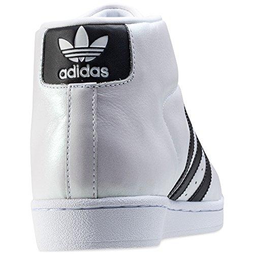 altas zapatillas de deporte de los hombres de Adidas S75851 PROMODEL White Black