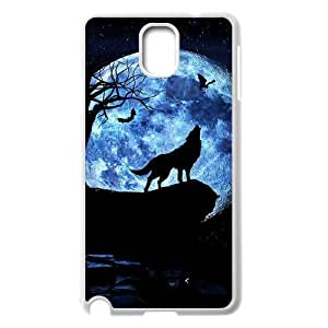 Custom Colorful Case for Samsung Galaxy Note 3 N9000, Wolf and Moon Cover Case - HL-R664053