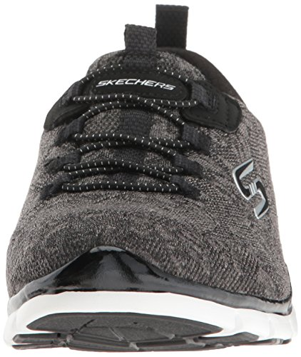Skechers Sport Women's Gratis Lacey Fashion Sneaker Black/White cheap sale shop 4FExBTtiS