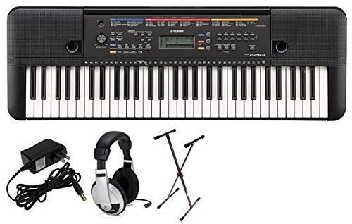 Yamaha PSRE263 Portable Keyboard Package with SXKS Stand