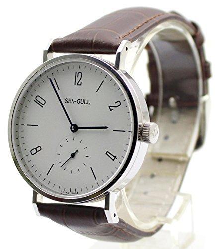Gaviota clásica estilo automático mecánico reloj para hombre pequeño Segunda Mano 6 en punto: Amazon.es: Relojes