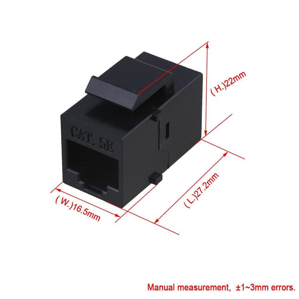 Mxfans 100pcs 8p8c Extender Cat5e Wire Extender Adapter RJ45 Modular Coupler