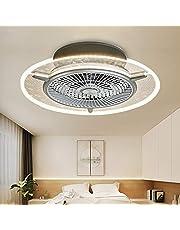 Led-plafondventilatorlamp onzichtbare slaapkamerventilatorlamp restaurant-woonkamer modern minimalistisch met afstandsbediening ventilator, dimbaar