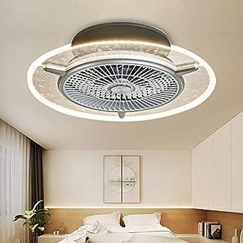 Ventilador de techo LED, lámpara invisible, lámpara para dormitorio, restaurante, salón, minimalista con ventilador controlado a distancia, regulable