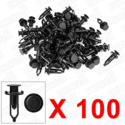 uxcell 100 Pcs Push-Type Automotive Clips Rivet Retainer Fender Bumper Fasteners Clips Ref 52161-02020 for Toyota: Automotive