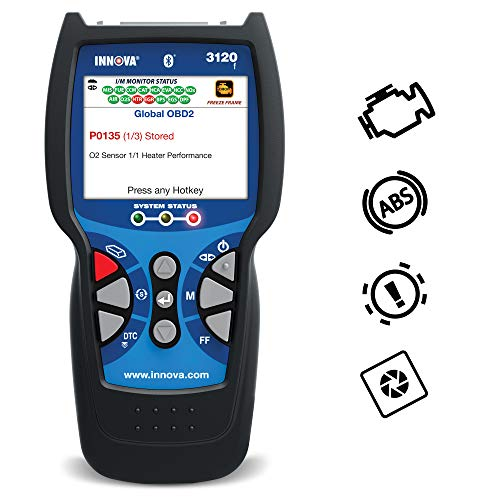 Innova 3120 Color Screen with Bluetooth OBD2 Scanner/Car Code Reader with OBD1 scanning, ABS, Battery Service Light Reset