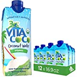 Vita Coco Organic Coconut Water, Pure - Naturally Hydrating Electrolyte Drink - Smart Alternative to Coffee, Soda, and Sports Drinks - Gluten Free - 16.9 Ounce (Pack of 12)