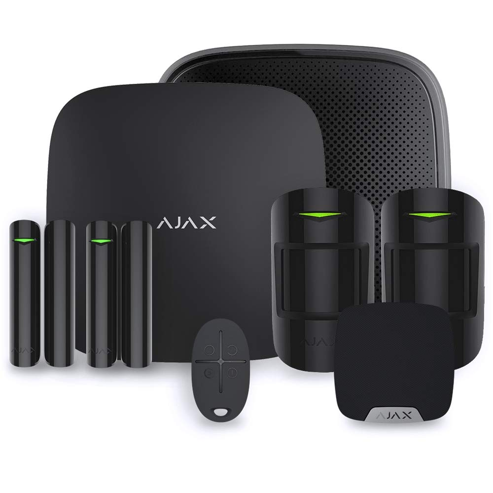 Ajax StarterKit Plus - Alarma para casa, Color Negro: Amazon ...