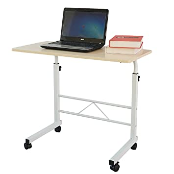 Azadx Side Table, Laptop Stand Adjustable 34.25u0026quot; Notebook Computer  Standing Desk Portable Cart Tray