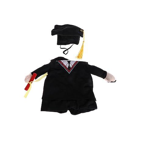 Amazon.com: yeahii disfraz traje académico de cachorro ropa ...