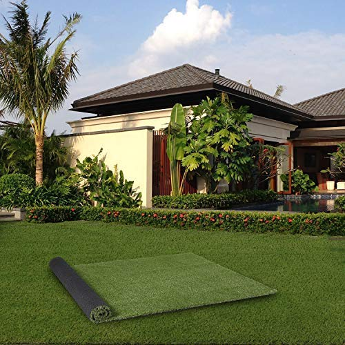 PHI VILLA Artificial Grass Area Rug, 20 in x 24 in, Perfect for Indoor/Outdoor Landscape