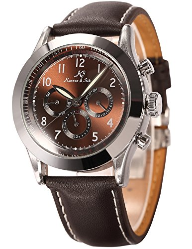 Ks Navigator Series Luxury Automatic Mechanical Day Date 24Hour Men's Wrist Watch KS125 (Day Date Series)
