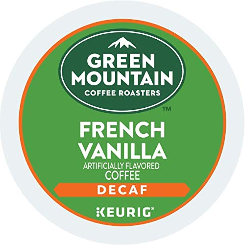 Green Mountain Coffee French Vanilla, Single Serve Coffee K-Cup Pods for Keurig Brewers, Decaf Light Roast , 96 Count (Decaf Kcups Flavored)