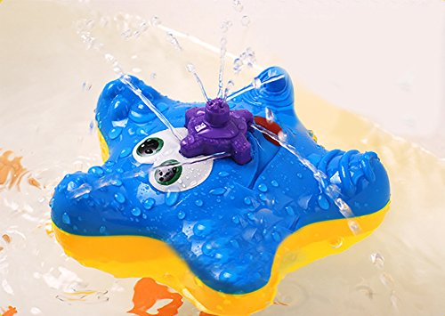 Painon Starfish Fountain Baby Bath Toys – Electronic Float Rotate Spray Water Swimming Toys For Pools And Bathtubs –Babies Toddlers Infants Kids Star Squirt Water Tub Toys Starfish Baby Float