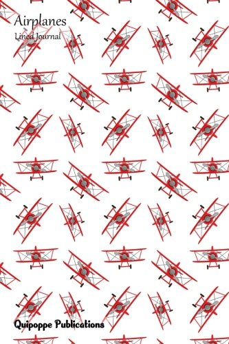 Airplanes Lined Journal: Medium College Ruled Notebook With Chaotic Red Airplane Pattern Cover PDF