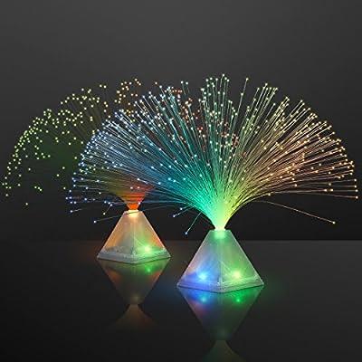 Fiber Optic Pyramid Centerpiece Light (Set of 12)