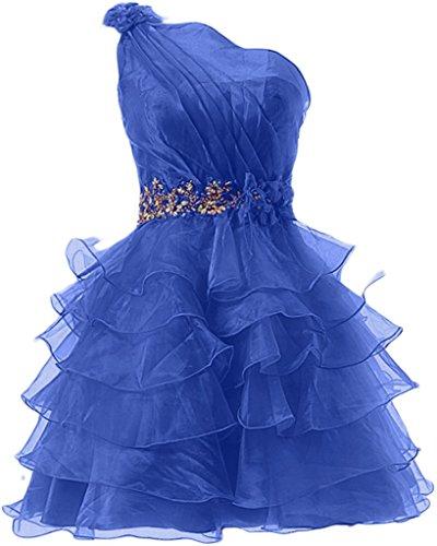 Missdressy - Vestido - plisado - para mujer azul royal