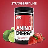 OPTIMUM NUTRITION ESSENTIAL AMINO ENERGY, Strawberry Lime, Preworkout and Essential Amino Acids with Green Tea and Green Coffee Extract, 30 Servings