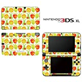 Lemon Apple Pear Orange Fruit Pattern Decorative Video Game Decal Cover Skin Protector for Nintendo 3DS XL