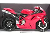 : 2008 Ducati 1098 Diecast Motorcycle Model 1:12 scale die cast by NewRay - Red 42727