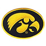 Iowa Hawkeyes Primary Round NCAA College Football Logo Iron On Embroidered Patch