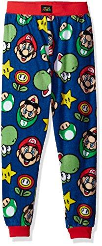 Pants Pajama Boys Fleece (Komar Kids Big Boys' Micro Fleece Jogger Lounge Pant, Navy, Medium)