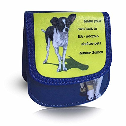 TAXI WALLET Shelter Pets Small Folding VEGAN Minimalist Card Coin Front Pocket Wallet for Men & Women