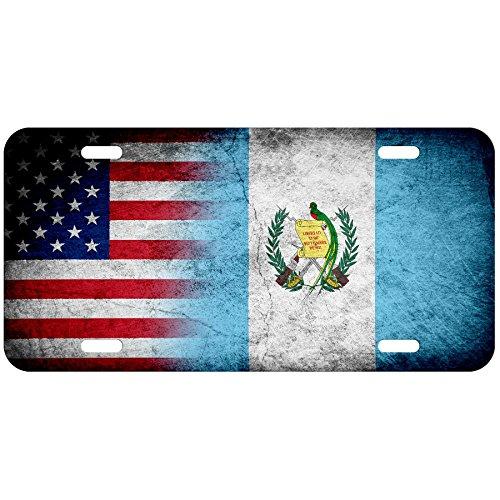 ExpressItBest High Grade Aluminum License Plate - Flag of Guatemala (Guatemalan) - Rustic/USA