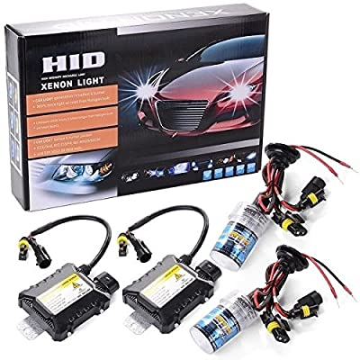 12V 55W Bi-Xenon Slim Ballast Kit Xenon Hid Kit Car Light Source Headlight Bulbs Lamp 6000K--White Light