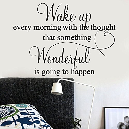 Gotian Removable Wall Sticker Wake up Every Morning Art Vinyl Mural Home Room Decor Wall Stickers