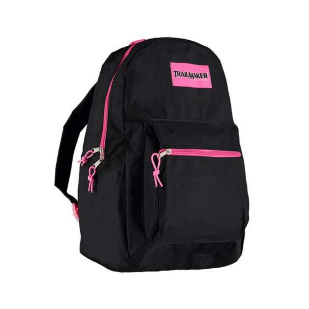 Trailmaker Classic Super Popular Best Seller Sturdy 17 inch Padded Backpack(Black) by Trail maker (Image #1)