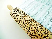 MELODY Embossing Rolling Pin. Engraved rolling pin for embossed cookies.